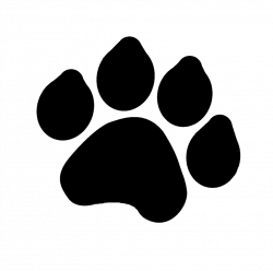 paw prints clipart lion