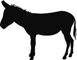 donkey clipart silhouette