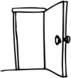 door clipart open