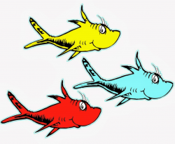 cat in the hat clipart fish
