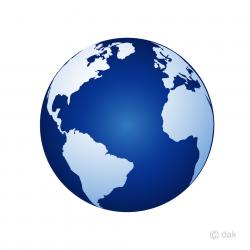 earth transparent blue