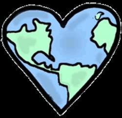 earth clipart heart