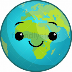 earth transparent kawaii