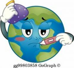 earth clipart sick