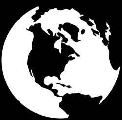 earth transparent white