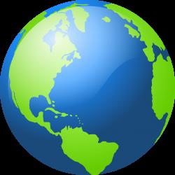earth transparent globe