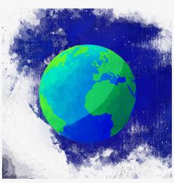 earth transparent watercolor