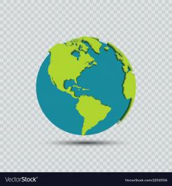 earth transparent vector