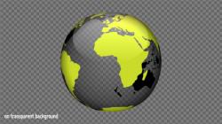 earth transparent rotating