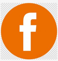 facebook logo transparent orange