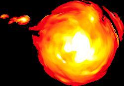 mario transparent fireball