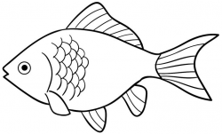 fishing clipart outline