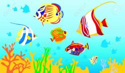 clipart fish sea