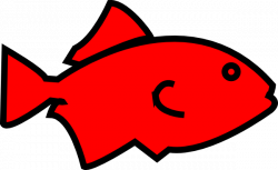 clipart fish red