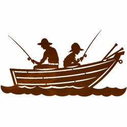 canoe clipart fishing