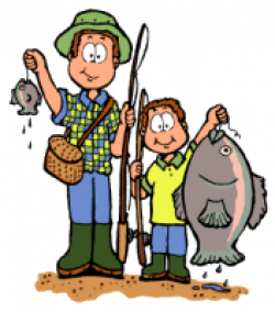 fishing clipart father son