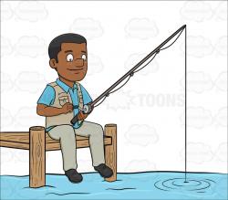 fishing pole clipart fisherman