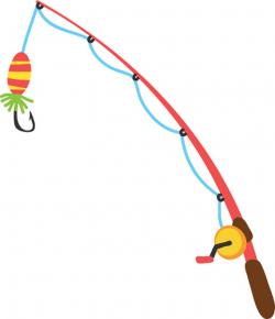 fishing pole clipart rod