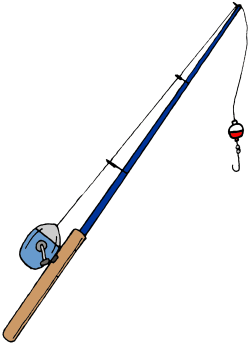 fishing pole clipart crossing