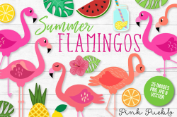 flamingo clip art vector