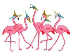 flamingo clipart birthday
