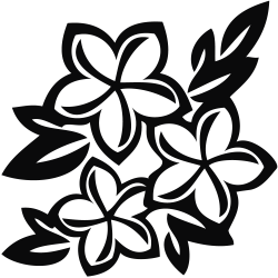 black and white flower clipart floral