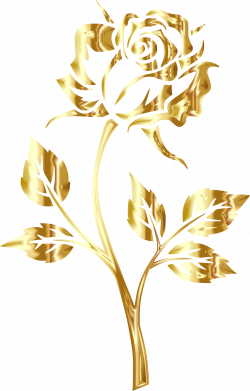 roses clipart gold