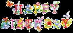 birthday clipart free flower