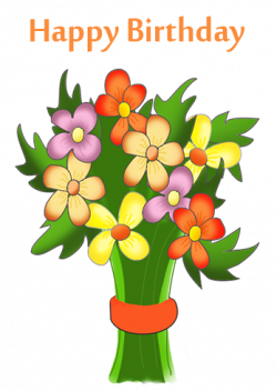 happy birthday clipart free floral