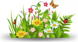 garden clipart butterfly