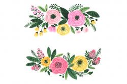 garden clip art watercolor