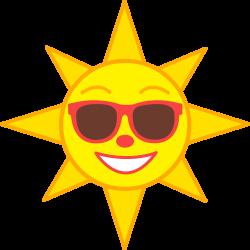 sun clipart cartoon