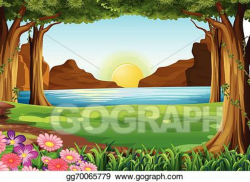 forest clipart drawing