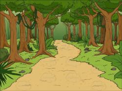 forest clipart cartoon