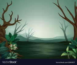 forest clipart scary