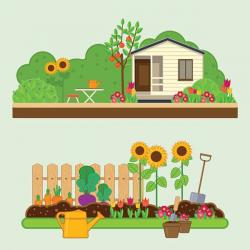 garden clipart house