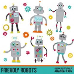 robot clipart kids