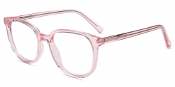 glasses transparent pink