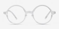 transparent glasses round
