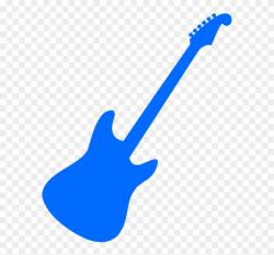 guitar clipart blue