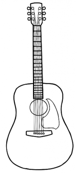 guitar clipart easy