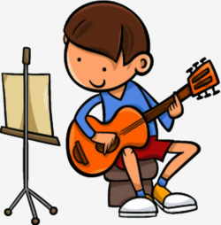 guitar clipart playing
