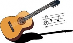 guitar clipart retro