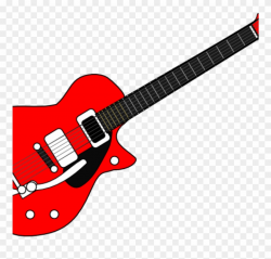 guitar clipart red
