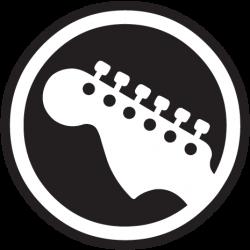 guitar logo rock