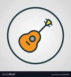guitar logo outline