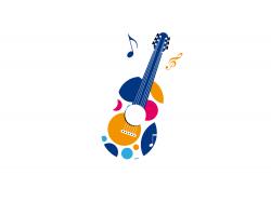 guitar logo music