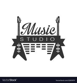 guitar logo studio
