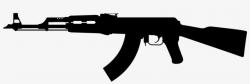 transparent gun silhouette