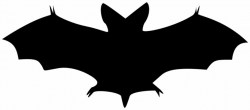 bat clipart silhouette